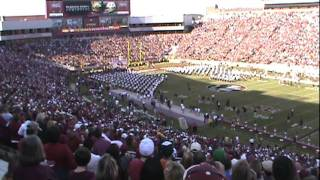 Game time tomahawk chop FSU vs Miami Nov 12, 2011
