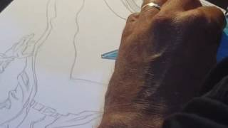 Claudio Castellini disegna Nathan Never a Lecce Cosplay & Comics 2016