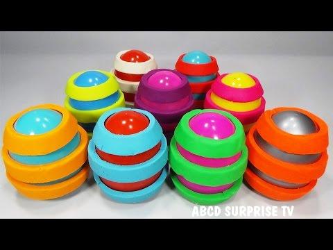 9 Play Doh Surprise Eggs Disney Princess Spongebob Angry Birds Marvel ABCD Surprise TV