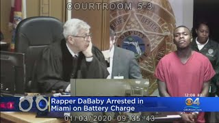 Rapper DaBaby Charged With Battery In Miami