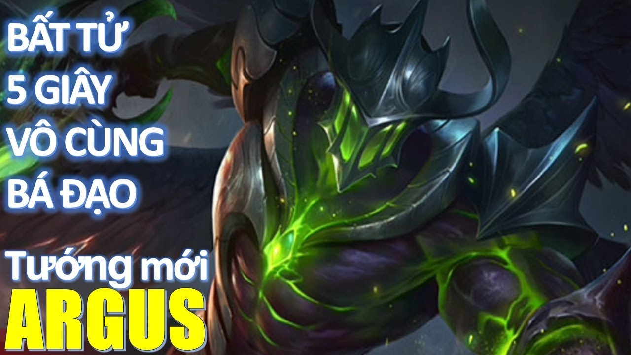 Tướng mới Argus sở hữu kỹ năng bất tử 5 giây vô cùng bá đạo - Argus Mobile  Legends