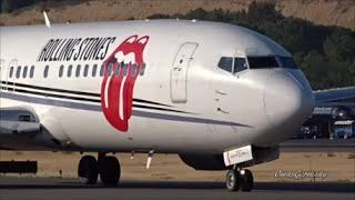 Rolling Stones Boeing 737 Swift Air Charter Jet CloseUp Departure @ KBFI Boeing Field