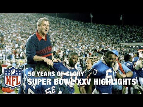 Bills vs. Giants | Super Bowl XXV Highlights | 50 Years of Glory | NFL