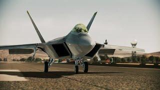 Ace Combat: Assault Horizon gameplay walkthrough with joystick (mission 1: Nightmare) f-22