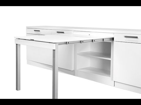 מדהים שולחן אוכל נשלף ממגירה במטבח - YouTube YQ-41