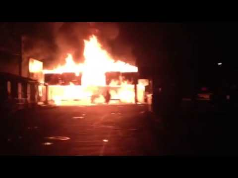 CAMDEN PARK RIDE GOES UP IN FLAMES