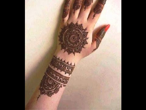 how to make circular mehndi design very simple mehendi tattoo on hand youtube. Black Bedroom Furniture Sets. Home Design Ideas