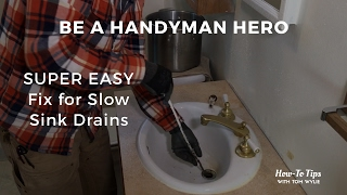SUPER EASY Fix for Slow Sink Drains