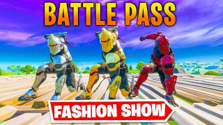 *BATTLE PASS* Fortnite Fasнion Show! FIRE Skin Competition! Best COMBO WINS!