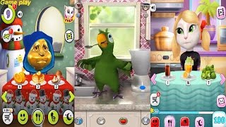 My Talking Angela VS My Talking Tom VS Talking Pierre Gameplay Great Makeover for Children HD