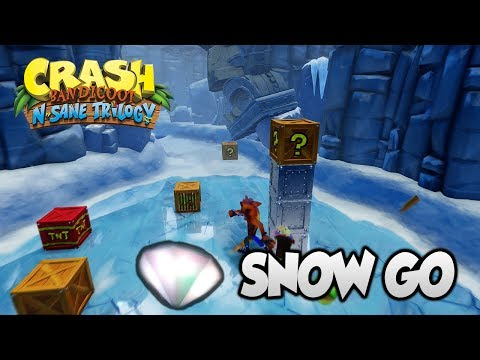 """Crash Bandicoot 2 - """"Snow Go"""" 100% Clear Gem and All Boxes (PS4 N Sane Trilogy)"""