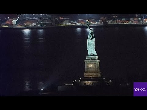 Statue of Liberty goes dark on eve of International Women's Day