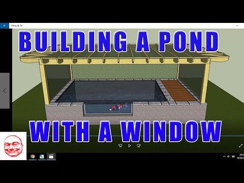Koi Pond Construction With Window.
