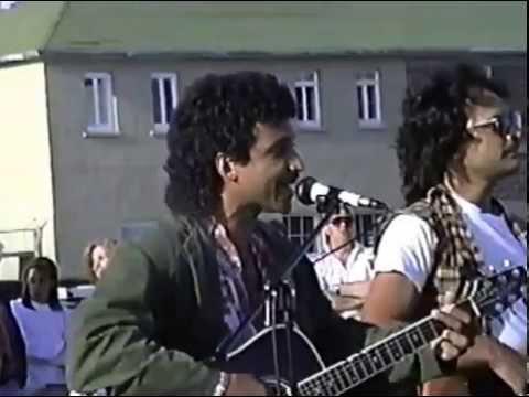 Cayenpp Festival des acadiens 1992 Spectacle musique sur le stationnement Hôpital HSP 2