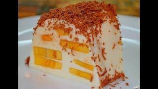Торт суфле ЗА 5 МИНУТ без выпечки. Торт с бананом