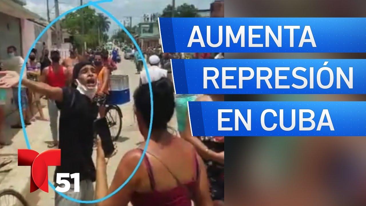 Aumentan la represión y los detenidos en Cuba