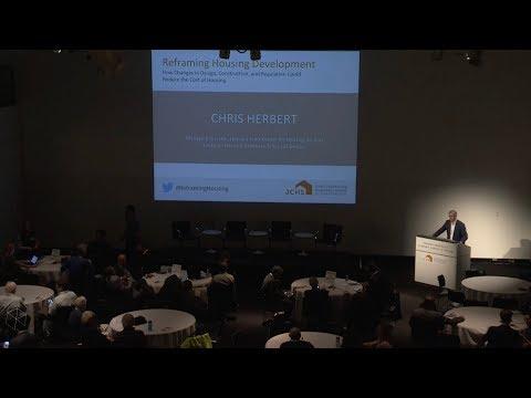 Reframing Housing Development: Welcome from Chris Herbert (JCHS Managing Director)