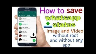 [Hindi]how to save whatsapp status videos and photos in gallery