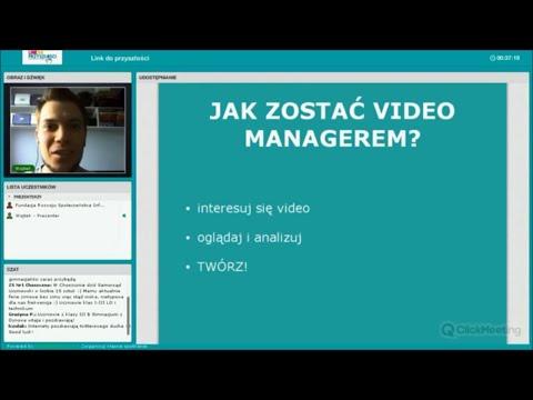 Ciekawe zawody na wyciągnięcie ręki: video manager. Webinarium z Wojtkiem Wiemanem.