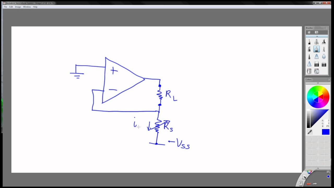 How To Make A Current Source Using An Op Amp Youtube Be Amplified By The Following Amplifier Circuit