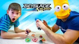 Funny baby playing Beyblade toys Beyblade for kids
