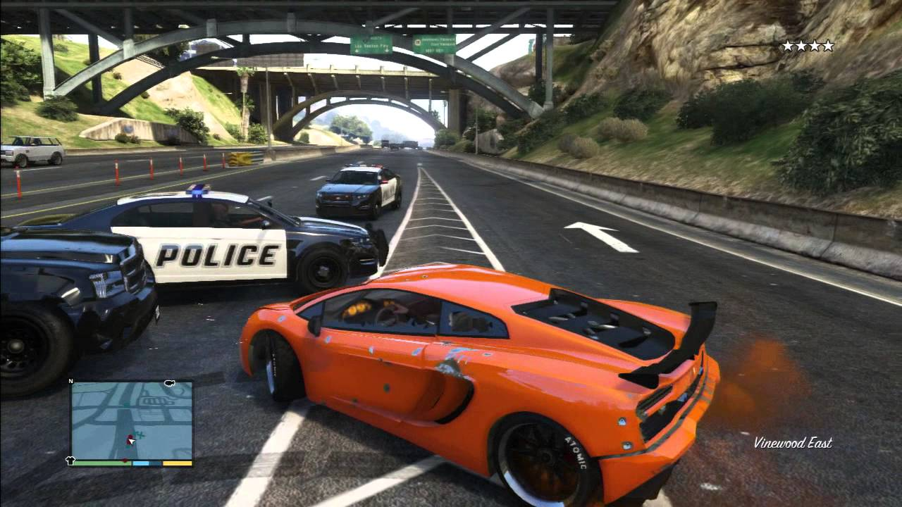 Gta 5 Lamborghini Vs Police Pursuit Real Life Youtube