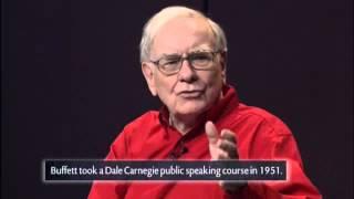 Warren Buffett explaining the importance of Public Speaking skills