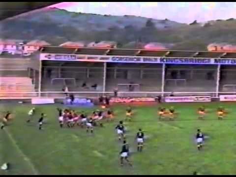 1988 Rugby Union Match: Welsh Counties U-23 vs Manu Samoa (highlights)