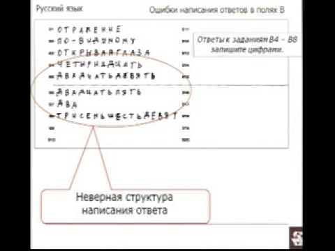 пример заполнения бланков по егэ по русскому языку - фото 6
