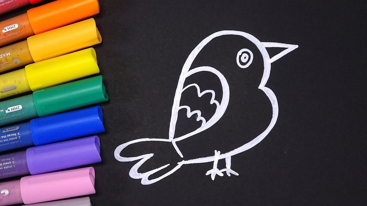How To Drawing A Bird From Number Two & Learn Colors | Cách Vẽ Con Chim Từ Số 2 Đơn Giản Học Màu Sắc