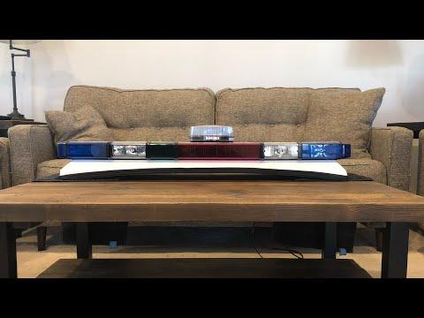 Whelen/Honac Liberty Light Bar, Politie (netherlands Dutch Police Green Amber Vw Golf Lightbar)