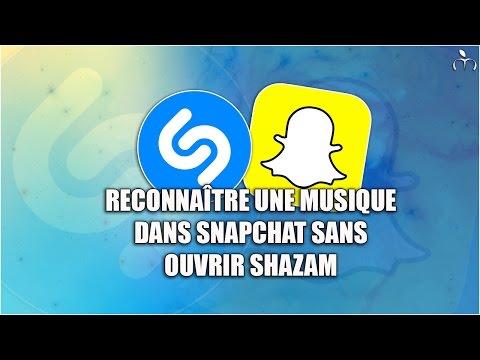 Reconnaître une musique dans Snapchat sans ouvrir Shazam