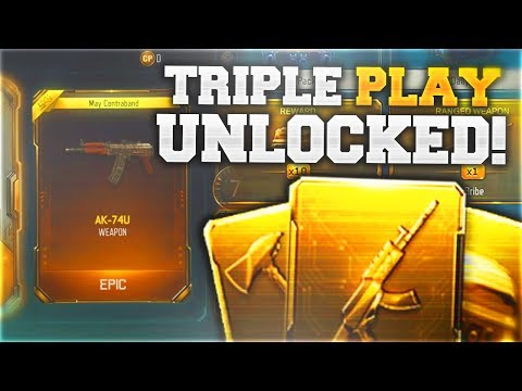 3 NEW DLC WEAPONS IN 1 TRIPLE PLAY WEAPON BRIBE.. (Black Ops 3 NEW TRIPLE PLAY Unlocked)