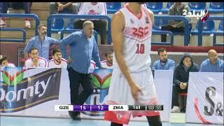 ملعب البلد - مباراة الزمالك & الجزيرة فى دوري كرة السلة - رجال