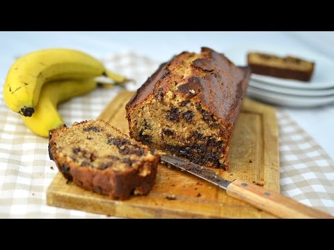 Banana Chocolate Chip Bread - Homemade Banana Bread With Chocolate Chips