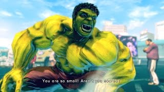 Ultra Street Fighter 4 - The Hulk Costume Skin Mod Arcade Ladder 60FPS Gameplay Playthrough
