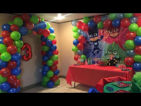 PJ MASK PARTY DECORATIONS | 3RD BIRTHDAY