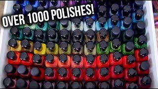 My ENTIRE Nail Polish Collection + Storage (Over 1000 Polishes!) || KELLI MARISSA