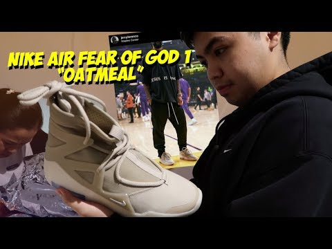 """Nike Air Fear of God 1 """"Oatmeal""""  Pick Up Vlog + Review 