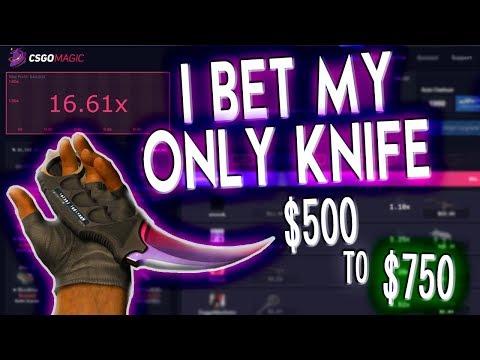 BETTING MY FAVORITE KNIFE SKIN ON CSGOMAGIC