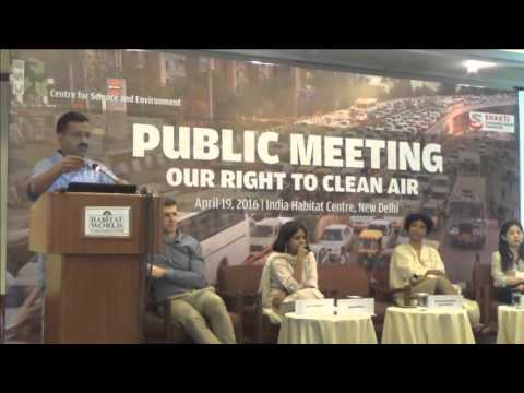 Full Speech of Arvind Kejriwal talks about cleaning Delhi's polluted air