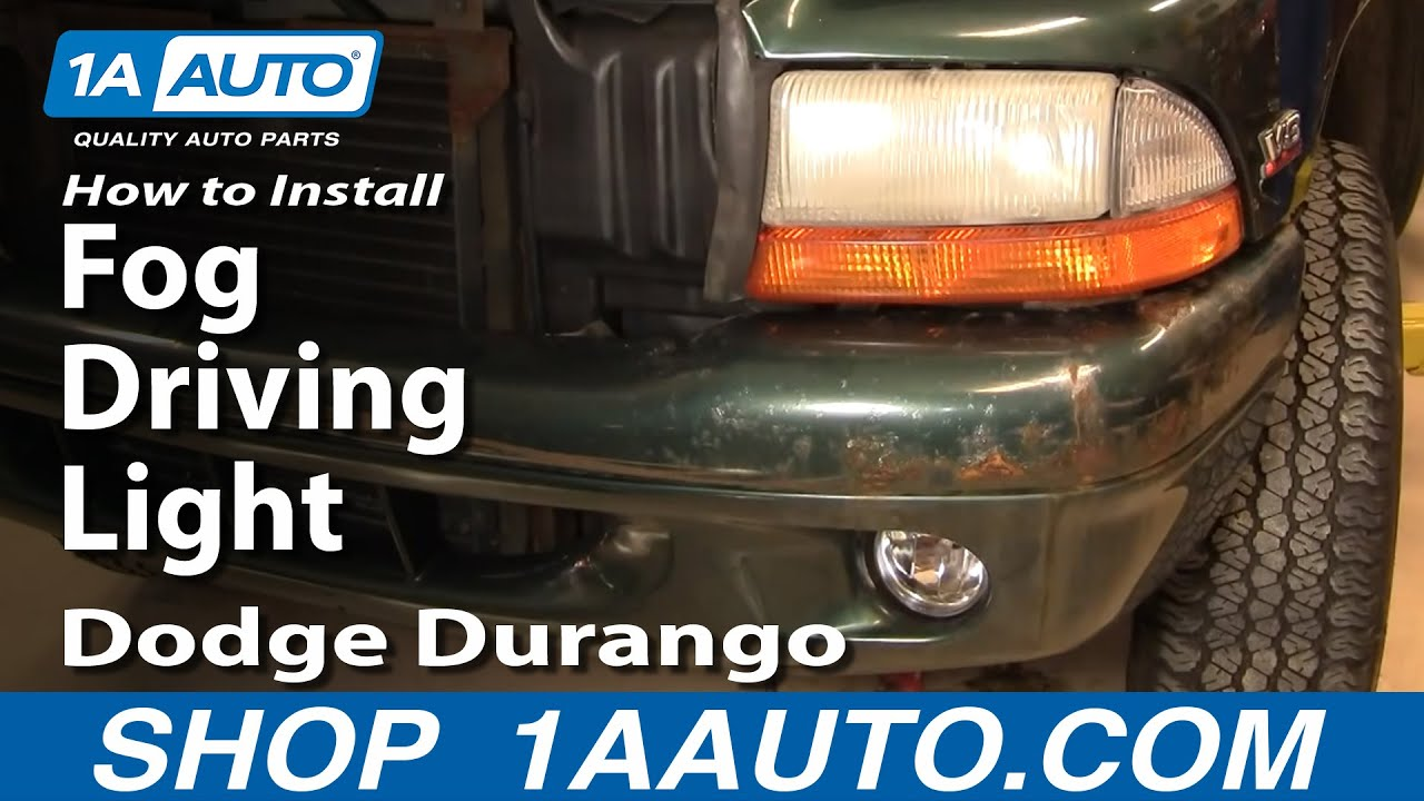 maxresdefault how to install replace fog driving light dodge durango dakota 97 Dodge Ram 2500 Wiring Diagram at bakdesigns.co