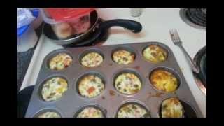 Crustless mini quiches recipe