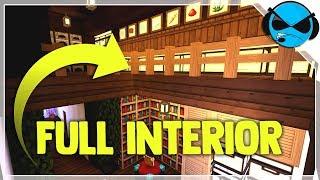 Large Medieval Fantasy House Interior Minecraft Tutorial ▻ Minecraft Medieval Village Part 14 YouTube
