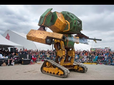 MegaBots at Maker Faire 2015: World Debut of the Mk. II Mech