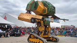 MegaBots at Maker Faire 2015: World Debut of the Mk. II Mech