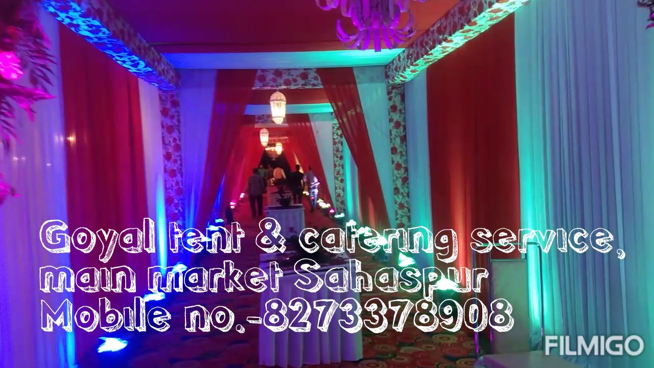 Goyal tent & catering services - YouTube