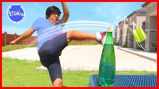 BOTTLE CAP CHALLENGE Trick Shots ! Wins... and BEST FAILS!