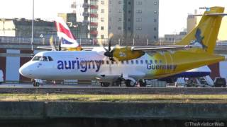 Morning Rush Hour - Airplanes at London City Airport - 25/11/2016