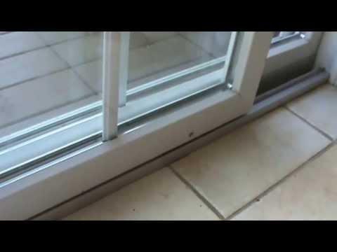 How to fix the sliding door that sticks